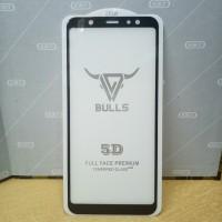 Tempered Glass Full Cover Samsung J8 2018 ( Full Lem, Tidak pelangi )