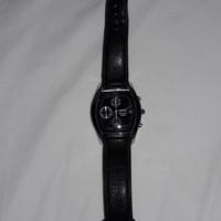 Jual seiko chronograph 50m - jam tangan second seiko hitam tali kulit asli Murah