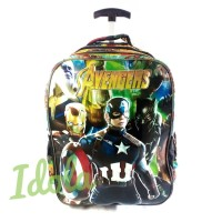 Tas Trolly/ Koper Sekolah Anak Kecil TK/SD Avengers Sablon 3D Cowok