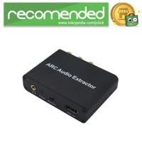 Audio Konverter HDMI Arc ke SPDIF Coaxial RCA 3.5mm AUX - Hitam