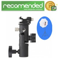 Tripod Hot Shoe Adapter Swivel untuk Flash Kamera DSLR - Hitam
