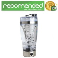 Botol Minum Protein Electric Shaker Portable Otomatis 450ml - Transpa