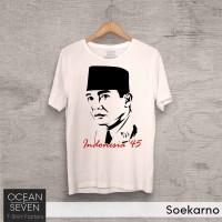 Jual Baju Soekarno - Kaos Nasionalisme Cinta Indonesia - Tshirt Ocean Seven Murah