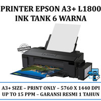 Printer A3 Epson L1800 A3+ Ink Tank 6 Warna (Infus Resmi) - Original