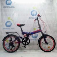 Sepeda Lipat Element 69 Remaja-Dewasa 20 Inci Full Suspension Steel 7S