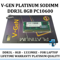 V-GEN DDR3L 8GB PC 10600 1333 Mhz SODIMM Notebook Laptop RAM Memory