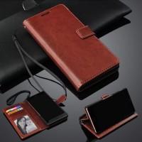 Flip Cover Wallet Leather Dompet Kulit Case Casing Oppo F7 Pro Plus