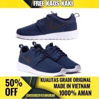 Jual Sepatu Nike Roshe Run Pria Navy Terbaru Sneakers Grade Original Murah Murah