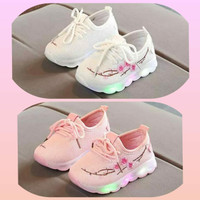 sz 26-30 Sepatu Led Anak Import Model Sakura New