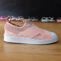 Sepatu Adidas ORIGINAL Superstar Slip-On Soft Pink