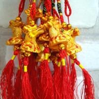 jual gt hoki naga emas hiasan parcel imlek dekorasi pohon