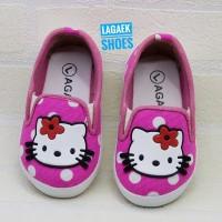 sepatu anak 1 2 3 tahun hello kitty POLKA PINK/sepatu perempuan-BKE01