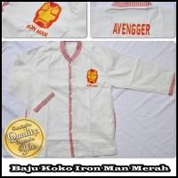 Baju Koko Anak Karakter Iron Man Merah Size S