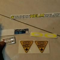 Sticker Kaca Helm R10 Rc7 K2r Cl max Zeus Agv K3 Sv Ls2 Nhk Gp1000