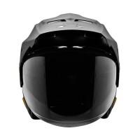 Helm Motor Half Face Semi Cross Cargloss Former Text Black Doff Gold