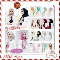 Kerudung Ceruti 3 Layer / Jilbab Motif Segiempat / Hijab Rubiah - AJJ