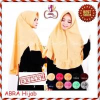 Kerudung Ceruti 3 Layer / Hijab Rubiah / Jilbab Motif Segiempat - AJA