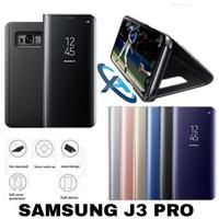 Flip Cover Samsung J3 Pro Mirror Case Casing Stand Holder J 3 Pro