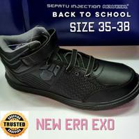 Sepatu Bot Sekolah Hitam - New Era EXO - 35, Hitam