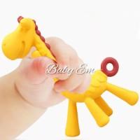 Baby teether ange giraffe mainan gigit bayi bpa free kuning