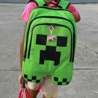Tas Ransel Sekolah Anak Sd Import Minecraft .Green. Berkualitas