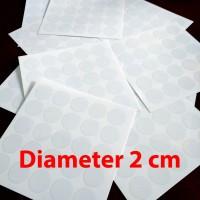 Stiker Vinyl Bulat 2cm Transparant Polos Sticker Bundar diameter 2 cm
