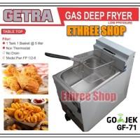 GETRA Gas Deep Fryer GF 71 Low Preassure / Alat Penggorengan / Murah