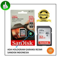 SanDisk Ultra SDHC 32GB Class 10 UHS-1 Speed Up To 80MB/s