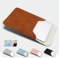 PU Leather Tas Laptop Macbook Sleeve Pouch 13.3inch Universal