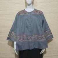 Kemeja bordir jumbo/blouse jumbo bordir /ATASAN big size/baju jumbo
