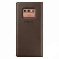 Samsung Galaxy Note 9 Leather View Cover Case BROWN - ORIGINAL