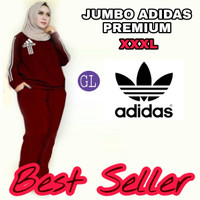Stelan training JUMBO adiddass/stelan olahraga bigsize/busana muslim