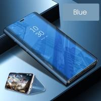 Case Samsung J6 2018 casing hp mirror auto lock FLIP COVER STAND SVIEW