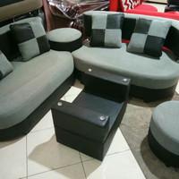 Jual Sofa minimalis sudut kursi ruang tamu murah L + ongkir jakarta Murah