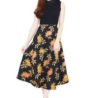 Batik Flike Store Rok Wanita Roll Skirt Orange Kenny