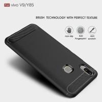 Softcase TPU Fiber Line Carbon spigen Cover Case Casing HP Vivo V9