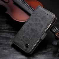 Flip Cover Vintage Leather Wallet Dompet Case Casing Oppo F7 Plus Pro