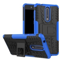 Softcase TPU Rugged Armor Casing Back Cover Case kick stand HP Nokia 8