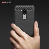 Softcase TPU Fiber Line Carbon Anti Slip Cover Case Casing HP LG G7