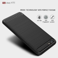 Softcase TPU FiberLine Carbon Anti Slip Cover Case Casing HP Vivo Y71