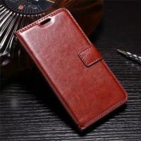 Flip Cover Wallet Leaethr Dompet Kulit Casing Cover HP Vivo Y71