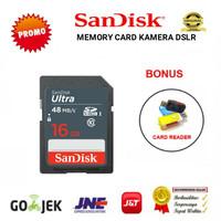MEMORY CARD MEMORI KAMERA SD CARD SDHC SANDISK 16GB/ 48MBPS