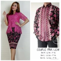 couple kebaya brokat btp modern fushia