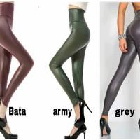 Celana legging dewasa wanita bahan kulit