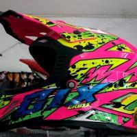 Helm Cross SNI Merk GIX Warna Pink Limited
