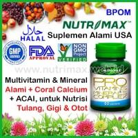 Nutrimax Pro Vitamins & Minerals Complex/Coral Calcium Vitamin Mineral