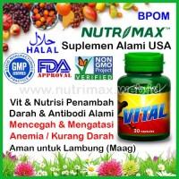Nutrimax Vital Vitamin & Zat Besi Untuk Penambah/Tambah Darah (Anemia)