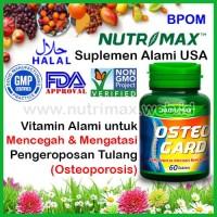 Nutrimax Osteo Gard isi 60 Vitamin Kalsium Untuk/Buat Tulang OsteoGard