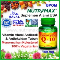 Nutrimax Coenzyme Q-10 100 mg Vitamin Antioksidan Coenzym/CoQ10/Co-Q10
