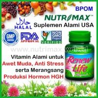 Nutrimax Renew Life Vitamin Hormon HGH Untuk Awet Muda (Anti Aging)